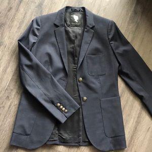 Aritzia Oxford navy blazer